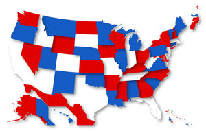 Nation Map Us 4th Of July Independence Day Vector Design