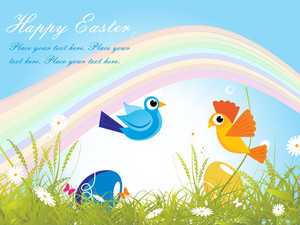 Natural Background With Egg