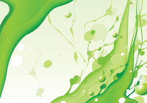 Natural Green. Vector Background.