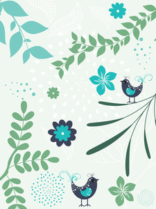 Natural Pattern Card Illustration