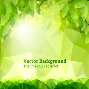 Natural Summer Green Stylized Background. Vector.