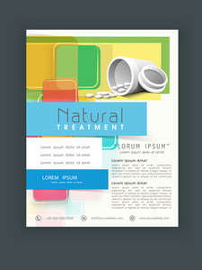 Natural Treatment flyer brochure or template.