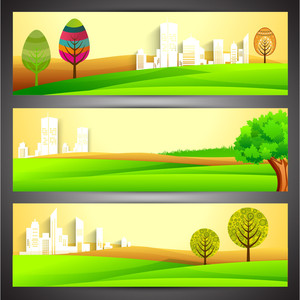 Nature And Eco Website Header Or Banner Set