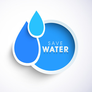 Nature Background With Blue Water Drops Can Be Use As Sticker