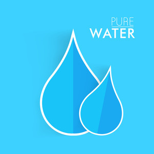 Nature Background With Blue Water Drops