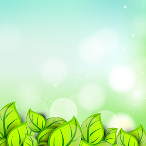Nature Background With Green Leaves And Space For Your Text