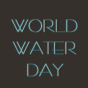 Nature Background With Stylish Blue Text World Water Day On Grey Background.