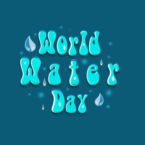Nature Background With Stylish Text World Water Day.
