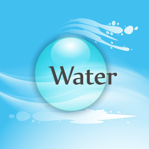 Nature Background With Water Drop And Text.
