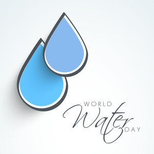 Nature Background With Water Drops On Abstract Background.