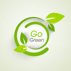 Nature Concept With Green Leaves And Text Go Green