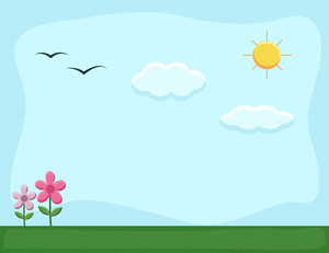 Nature Landscape - Cartoon Background Vector