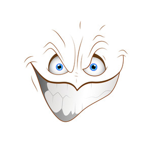 Naughty Smiley Cartoon Face