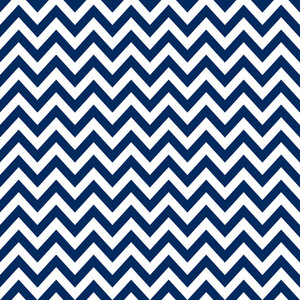 Nautical Blue And White Chevron Pattern