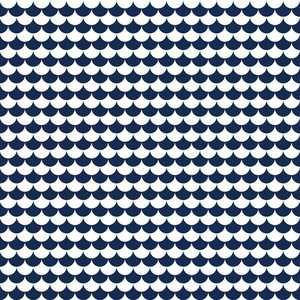 Nautical Pattern Of Blue And White Scales