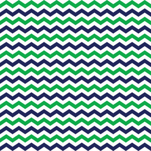 Nautical Pattern Of Green, Blue, And White Chevrons