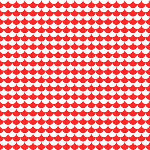 Nautical Pattern Of Red And White Scales