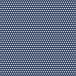 Nautical Pattern Of White Polka Dots On A Blue Background