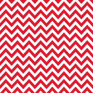 Nautical Red And White Chevron Pattern