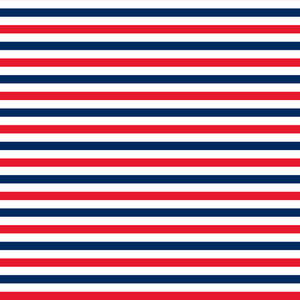 Nautical Red, White, And Blue Striped Pattern