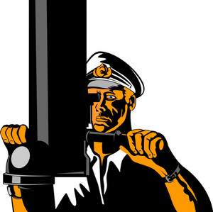 Navy Captain Sailor With Periscope