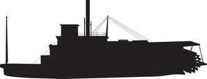 Navy Ship Silhouette