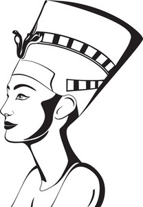 Nefertiti Portrait Vector
