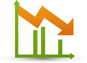 Negative Trend Graph Lite Application Icon
