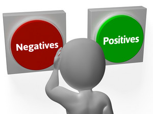 Negatives Positives Buttons Show Minuses And Plusses