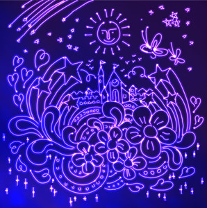 Neon Light Illustration