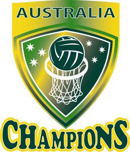 Netball Ball Hoop Champions Australia Shield