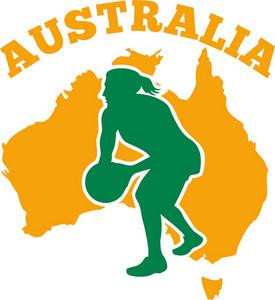 Netball Player Passing Ball Australia