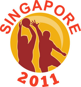 Netball Singapore 2011 Player Passing Ball