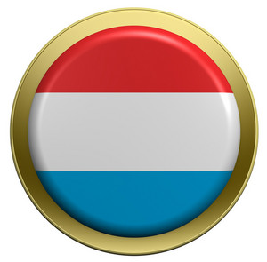 Netherlands Flag On The Round Button Isolated On White.