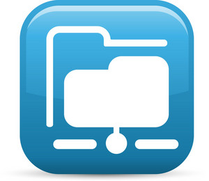Network Folder Elements Glossy Icon