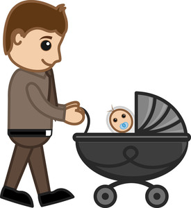 New Dad - Vector Character Cartoon Illustration