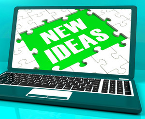 New Ideas On Laptop Showing Innovative Ideas