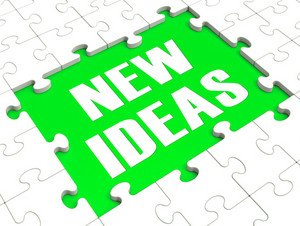 New Ideas Puzzle Showing Innovation