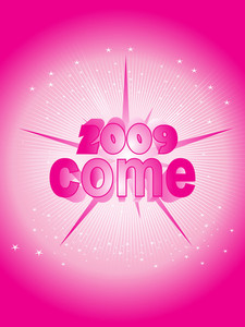 New Year 2009 Eve Party Background Vector Illustration