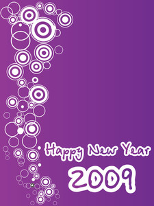 New Year 2009 Greeting Pattern