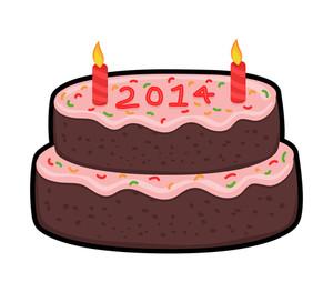 New Year 2014 Cake