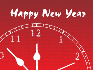 New Year Clock Illustration