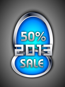New Year Discount Sale Sticker