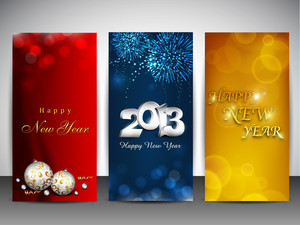 New Year Website Banner Set