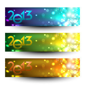 New Year Website Header And Banner Set