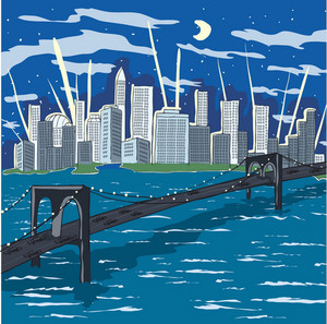 New York Doodles Vector Illustration
