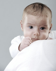 Newborn baby portrait