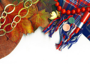 Newest Look For This Autumn. Border With Clipping Path
