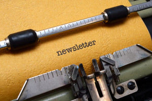 Newsletter Text On Typewriter