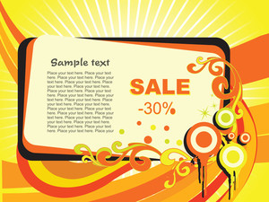 Nice Vector Background For -30% Sale